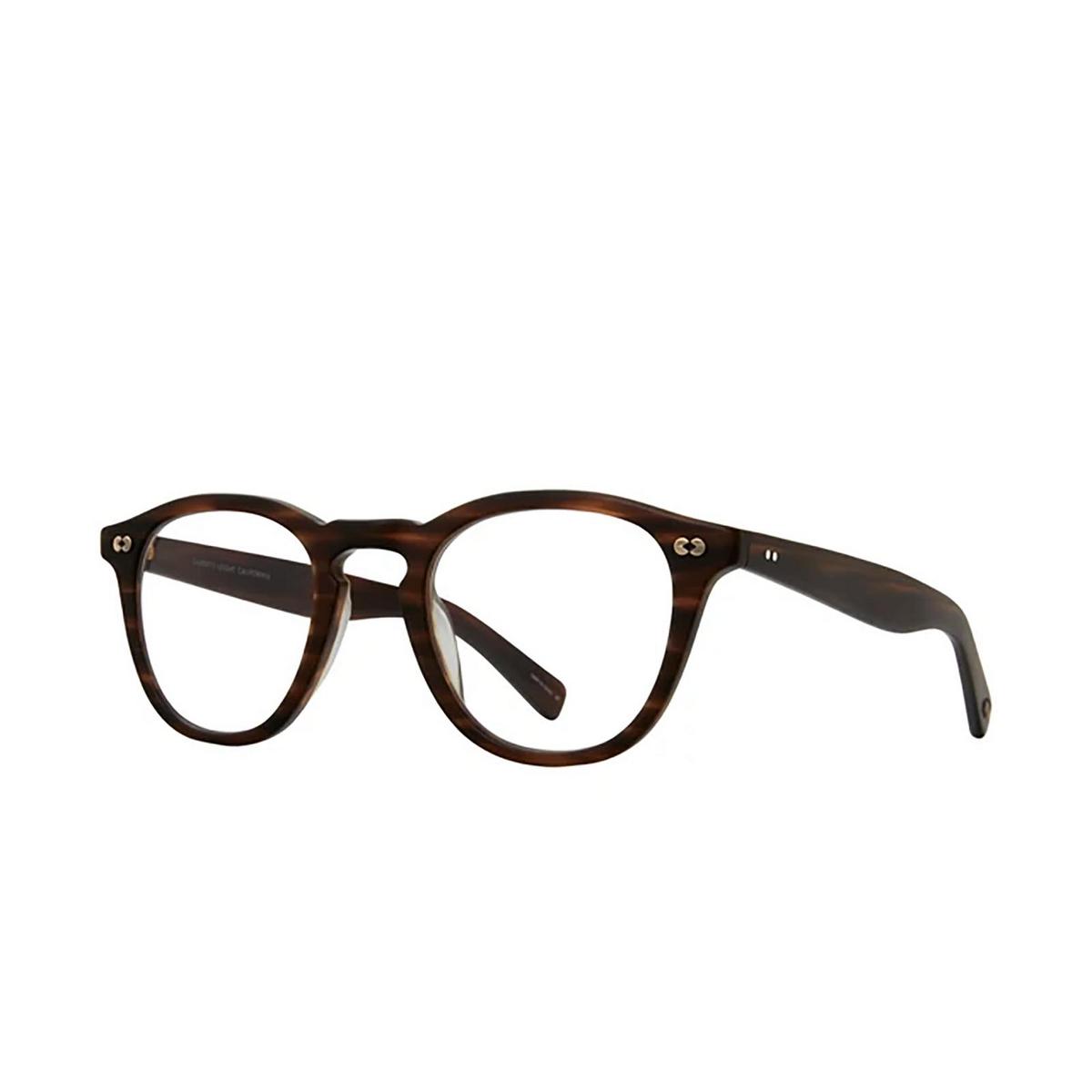 Garrett Leight® Square Eyeglasses: Hampton X color Matte Brandy Tort Mbrt - three-quarters view.