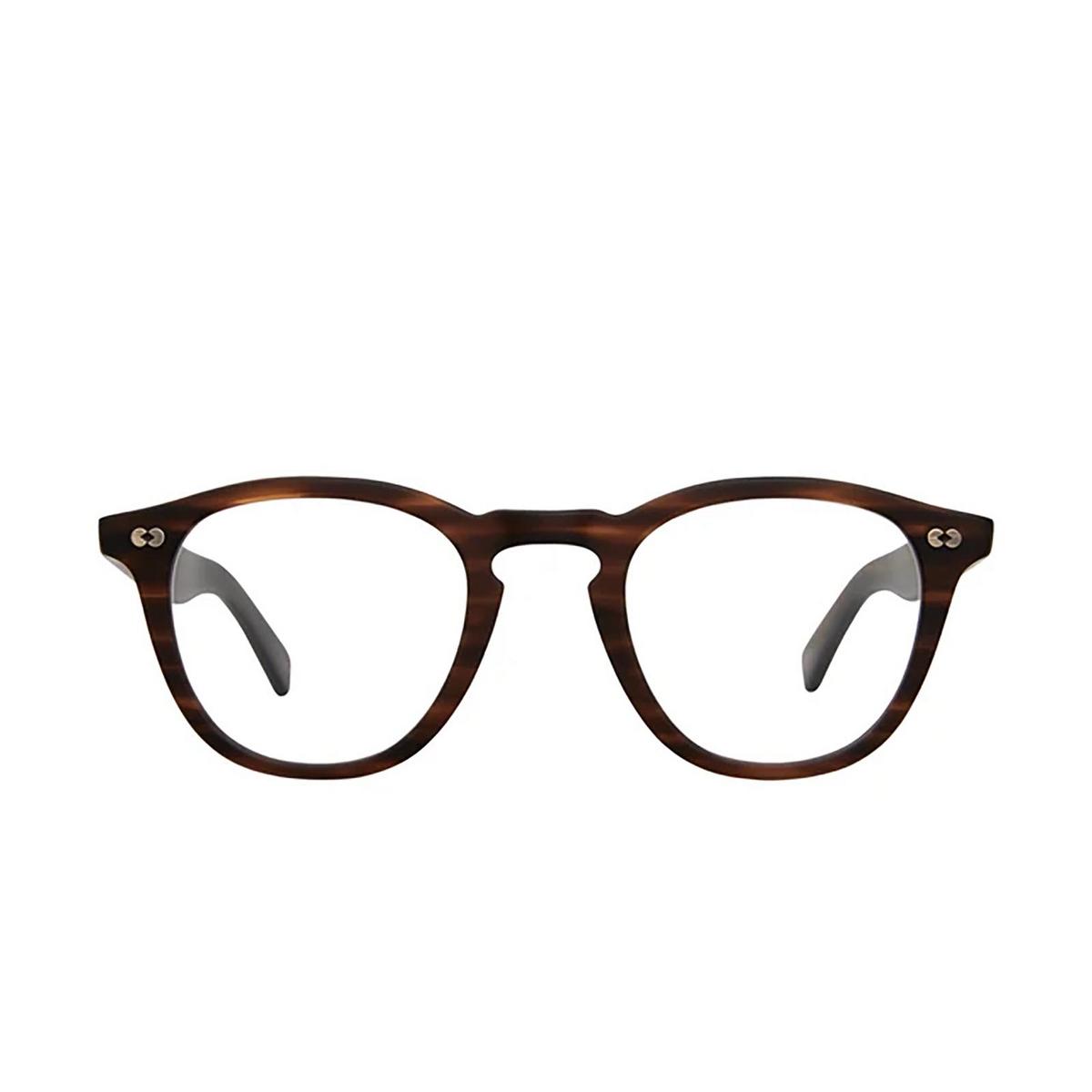 Garrett Leight® Square Eyeglasses: Hampton X color Matte Brandy Tort Mbrt - front view.