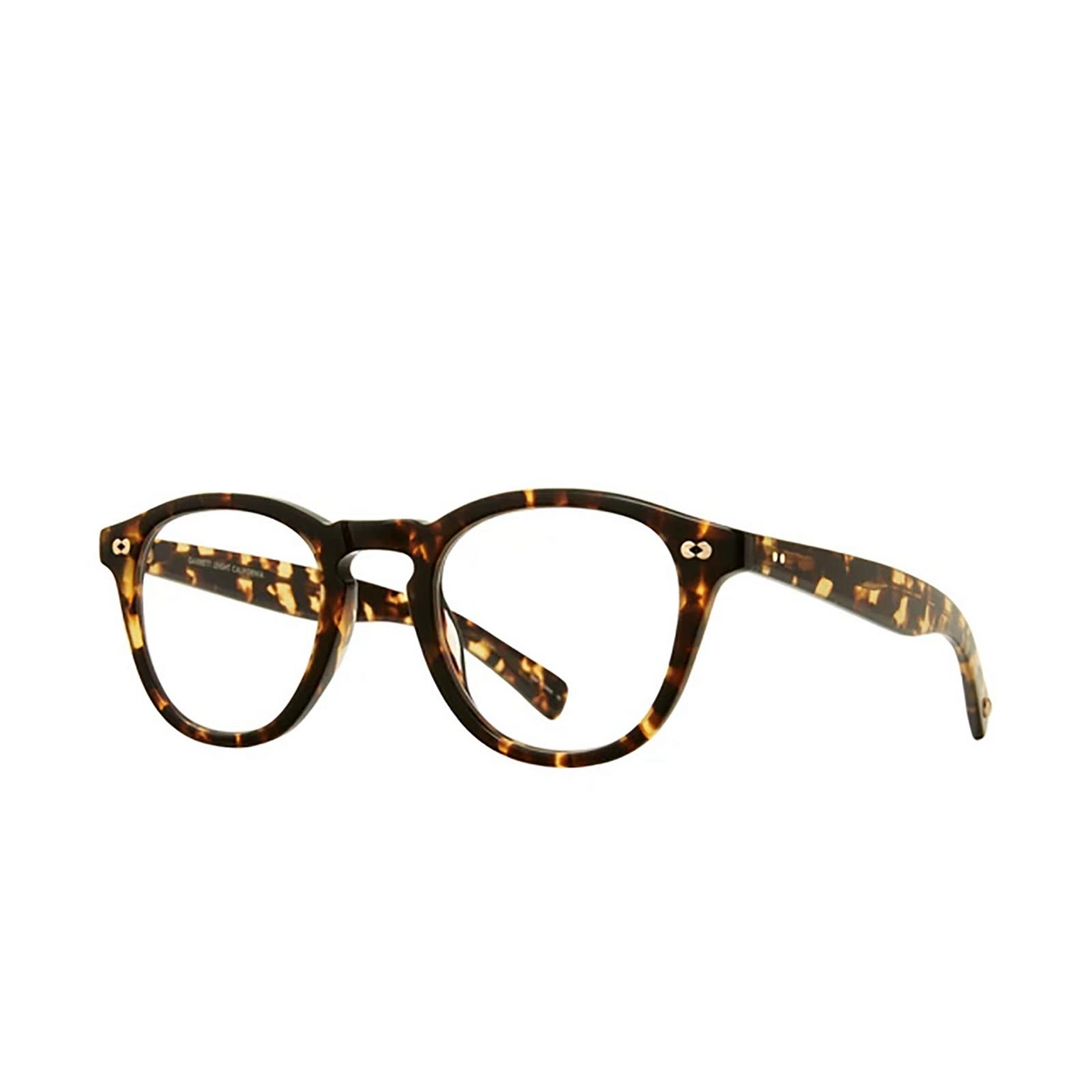 Garrett Leight® Square Eyeglasses: Hampton X color Tuscan Tortoise Tut - three-quarters view.