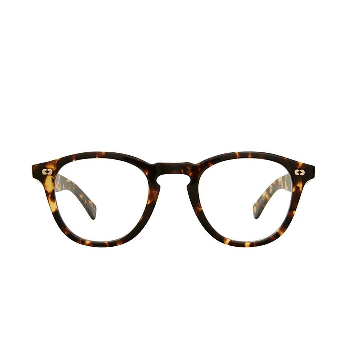 Garrett Leight® Square Eyeglasses: Hampton X color Tuscan Tortoise Tut - front view.