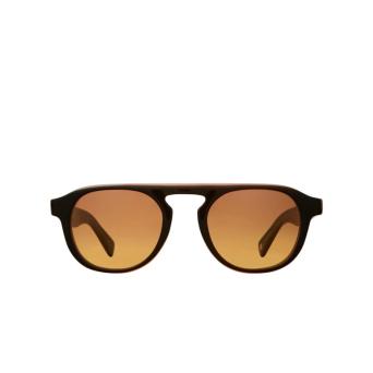 Garrett Leight® Aviator Sunglasses: Harding X Sun color Amaro Laminate Amlam-hwdg.