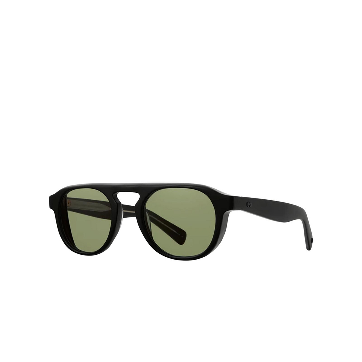 Garrett Leight® Aviator Sunglasses: Harding X Sun color Matte Black Mbk-vvg.