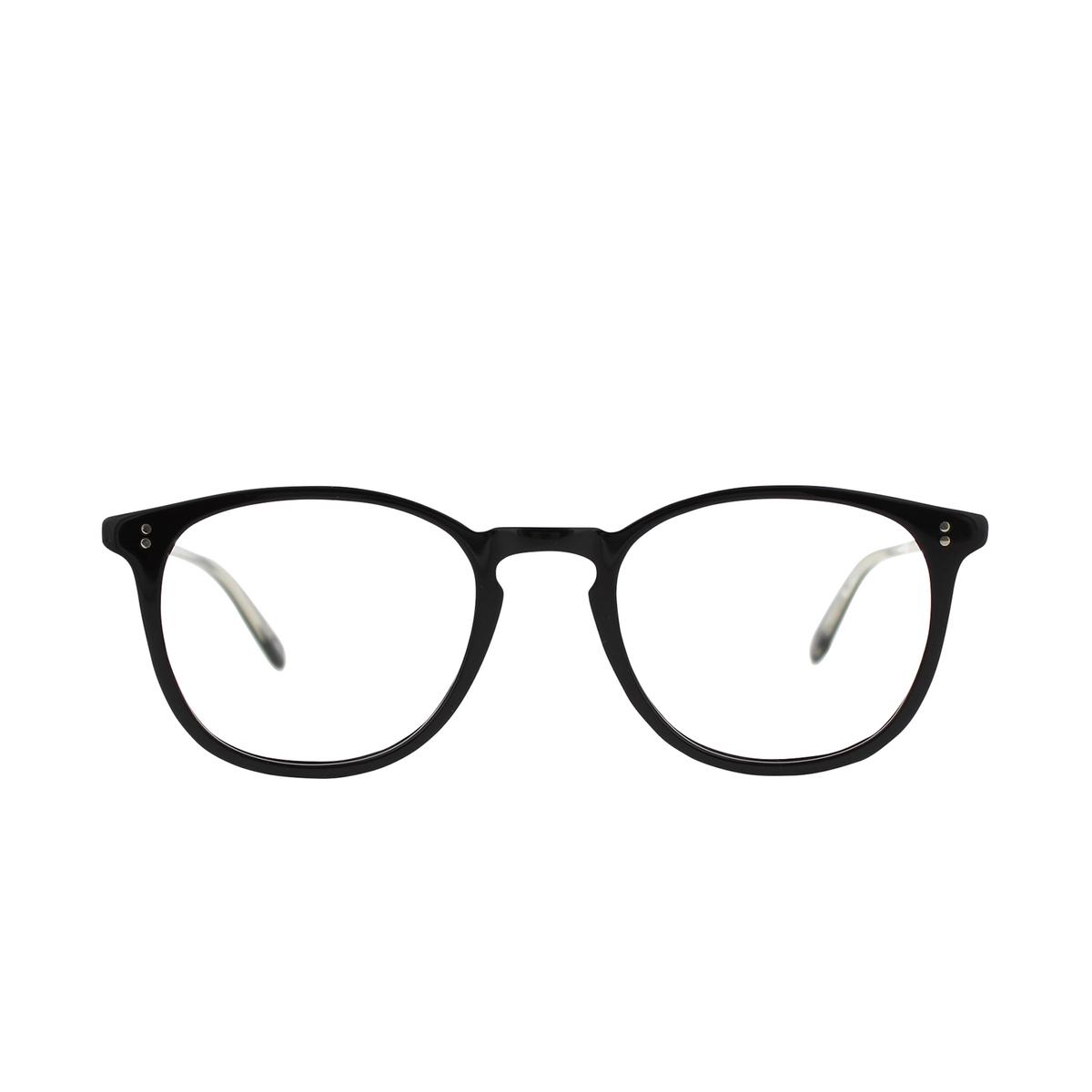 Garrett Leight® Round Eyeglasses: Kinney color Matte Black Mbk - front view.