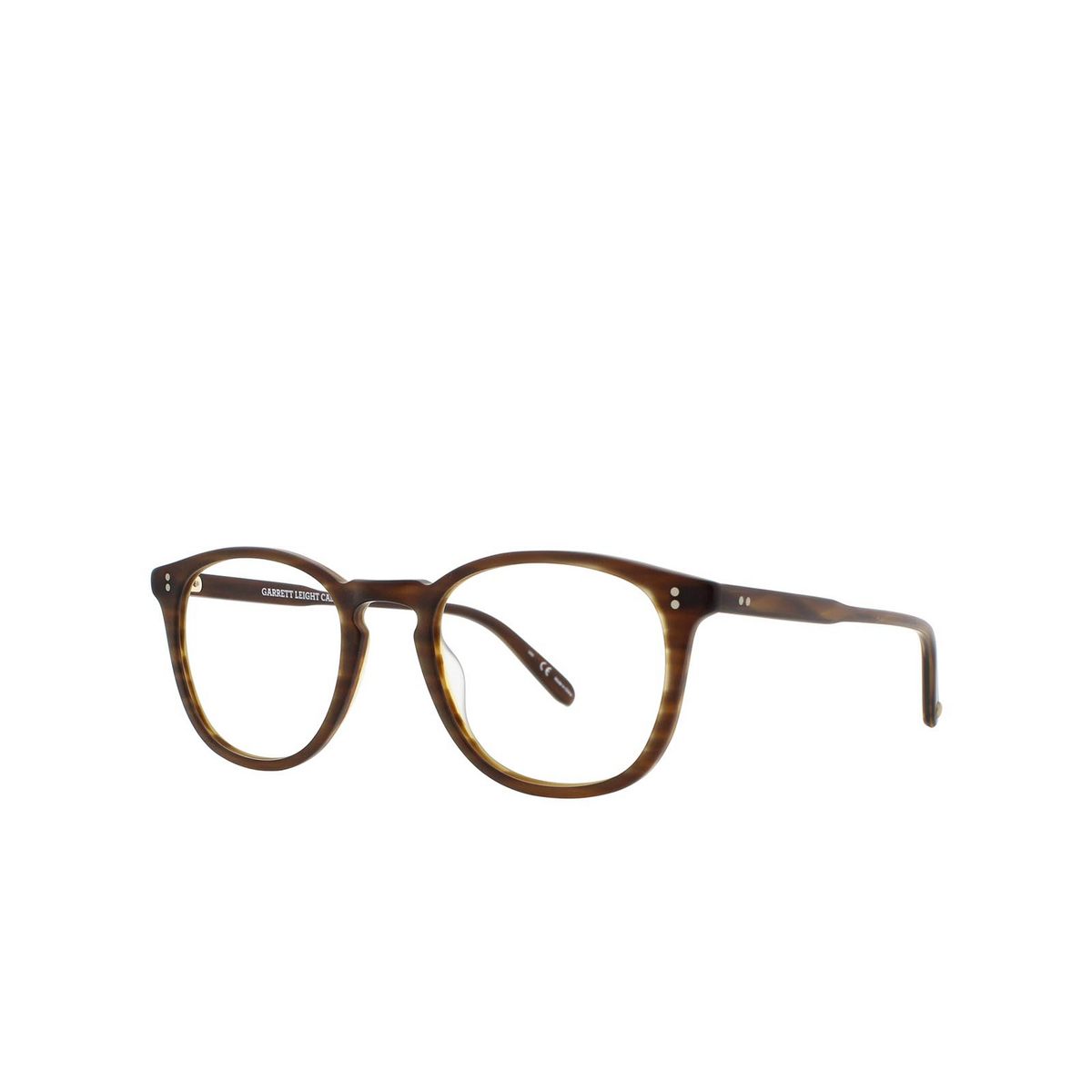 Garrett Leight® Square Eyeglasses: Kinney color Matte Brandy Tort Mbt - three-quarters view.