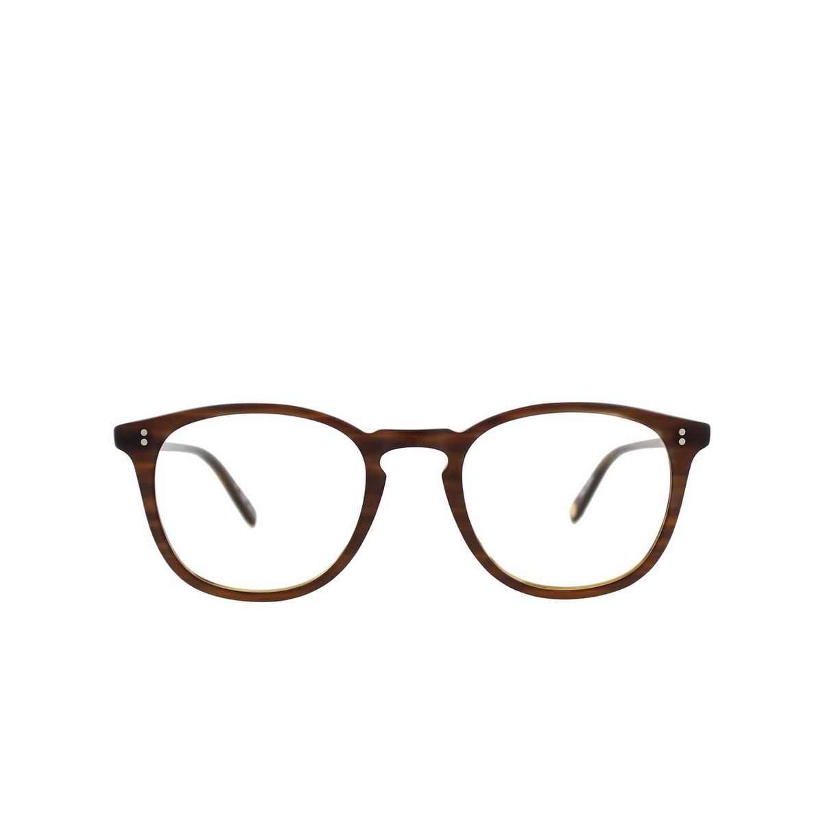 Garrett Leight® Square Eyeglasses: Kinney color Matte Brandy Tort Mbt - front view.