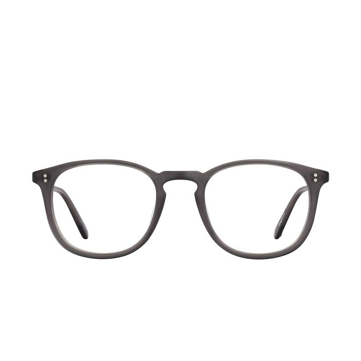 Garrett Leight® Round Eyeglasses: Kinney color Matte Grey Crystal Mgcr - front view.