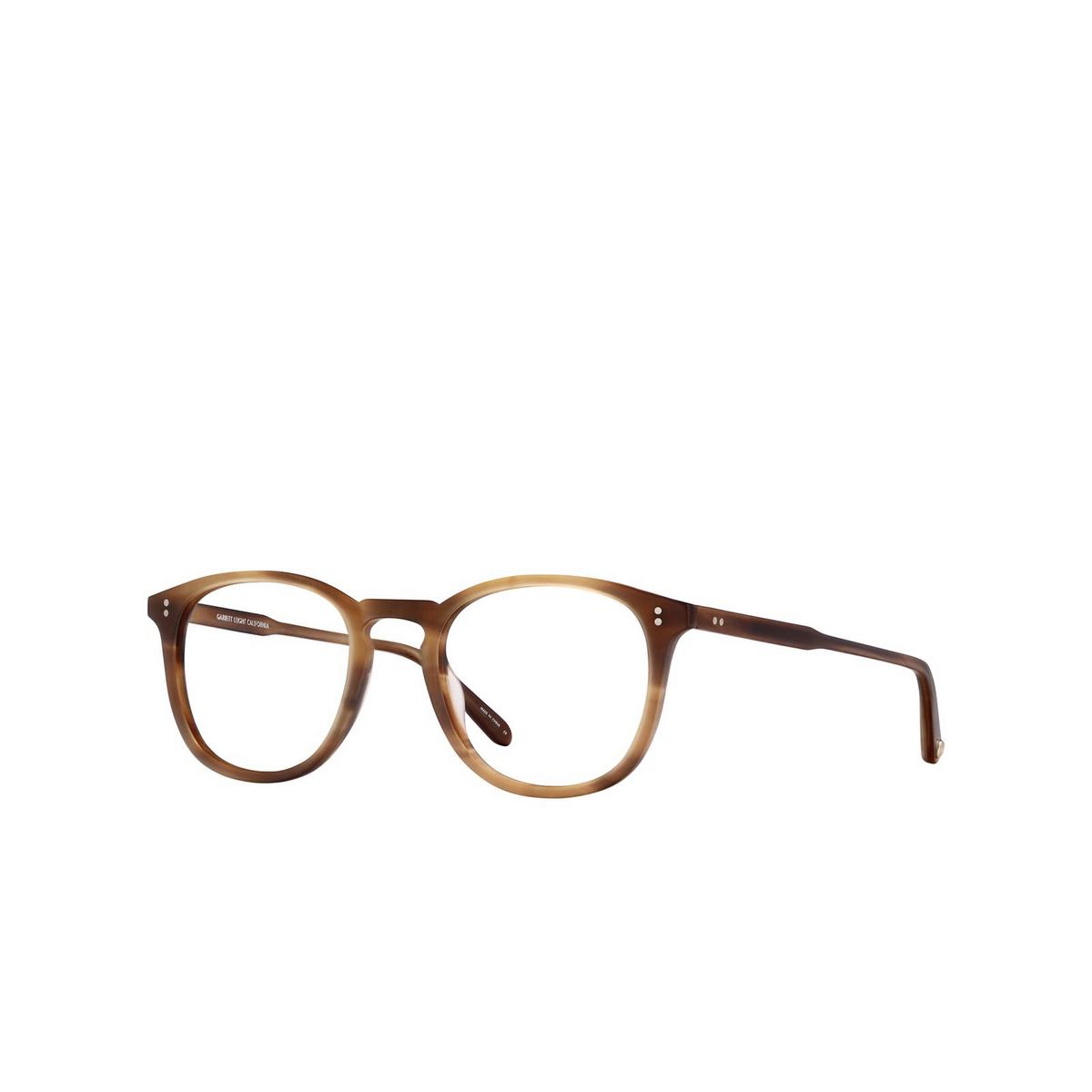 Garrett Leight® Square Eyeglasses: Kinney color Matte True Demi Mtd.