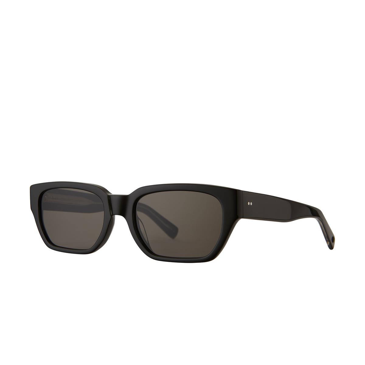Garrett Leight® Rectangle Sunglasses: Mayan Sun color Black Bk/sfgry.