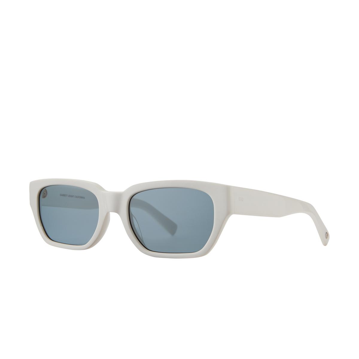 Garrett Leight® Rectangle Sunglasses: Mayan Sun color Teen Spirit Teespi/sfpac - three-quarters view.