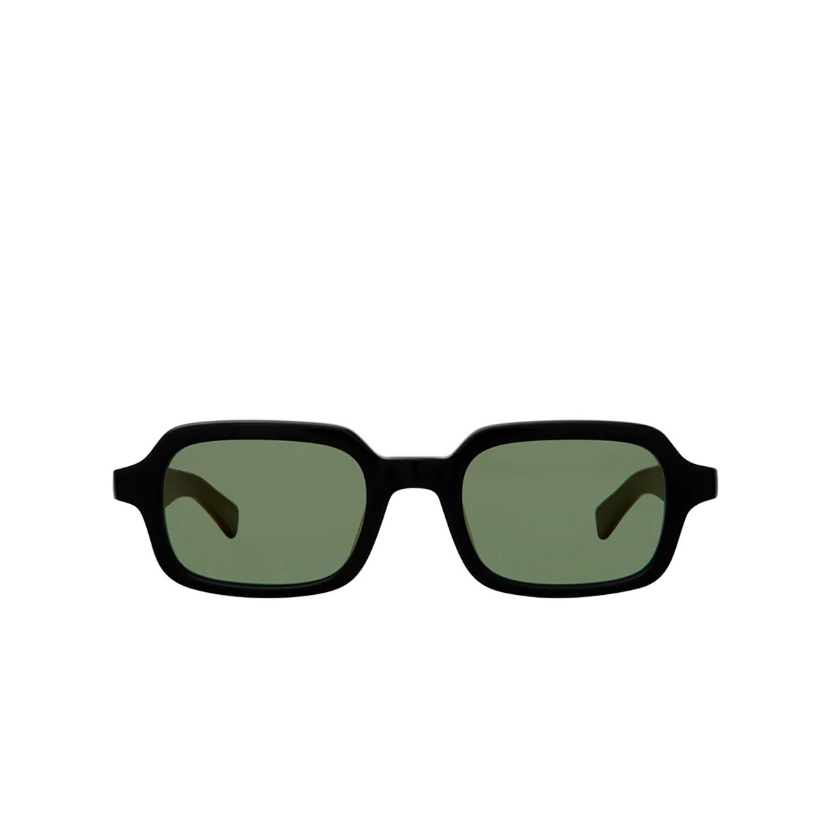 Garrett Leight® Rectangle Sunglasses: Navarre Sun color Black Bk-vvg.