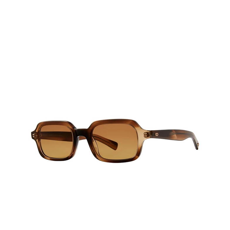 Garrett Leight® Rectangle Sunglasses: Navarre Sun color Khaki Tortoise Kht/hwdg.