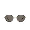 Garrett Leight® Irregular Sunglasses: Norfolk Sun color Black-gold Bk-g/gry - product thumbnail 1/2.