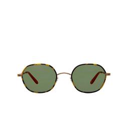 Garrett Leight® Irregular Sunglasses: Norfolk Sun color Tokyo Tortoise-matte Gold Tt-mg/vvg.