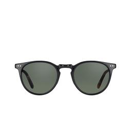 Garrett Leight® Sunglasses: Ocean Sun color Black/amber-gold BK-BKA-G-G15V.
