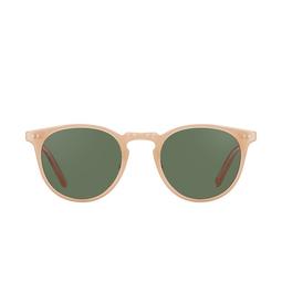 Garrett Leight® Sunglasses: Ocean Sun color Peach/silver P-s/grn.