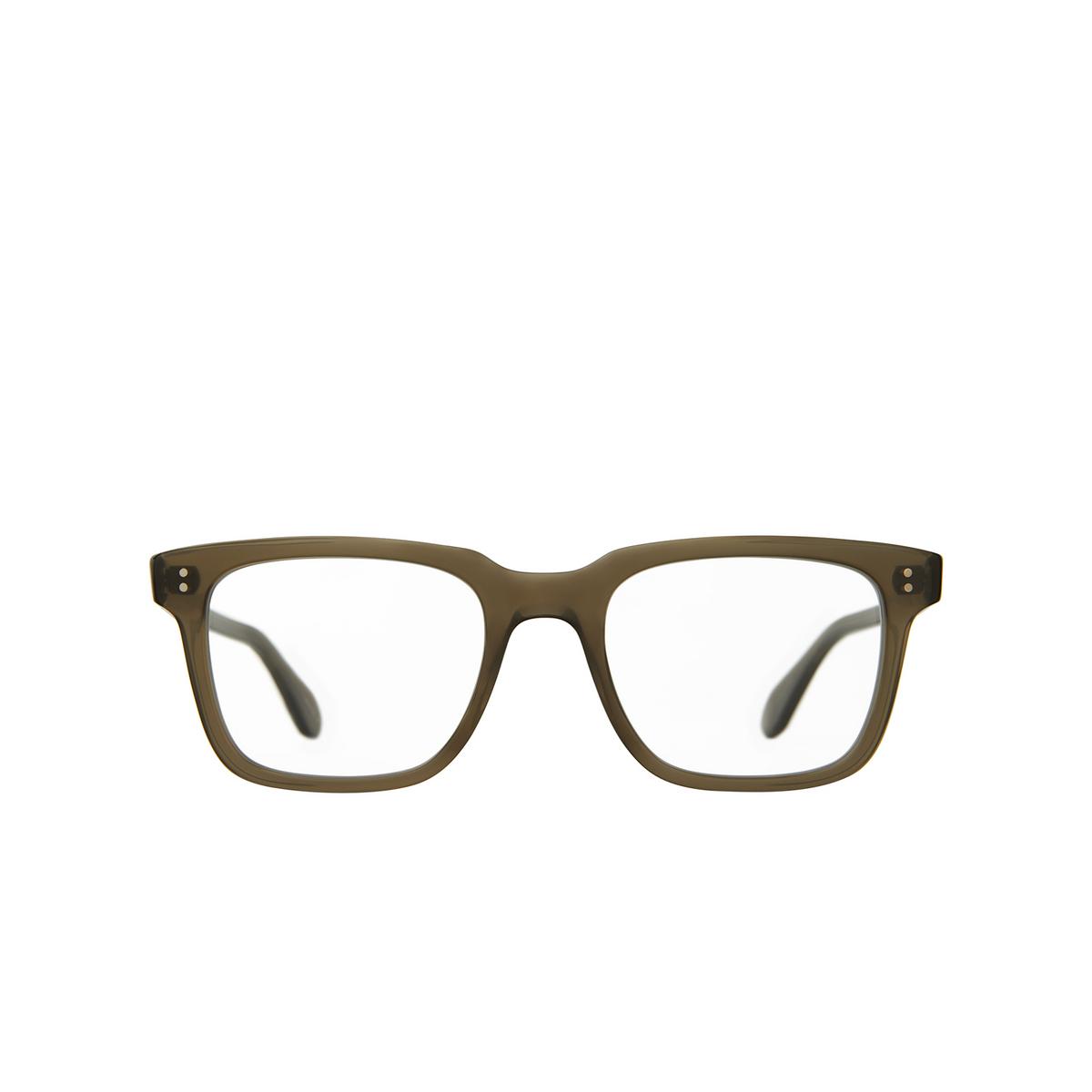 Garrett Leight® Square Eyeglasses: Palladium color Olio - front view.