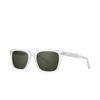 Garrett Leight® Square Sunglasses: Palladium Sun color Crystal CR/PG15 - product thumbnail 2/2.