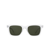 Garrett Leight® Square Sunglasses: Palladium Sun color Crystal CR/PG15 - product thumbnail 1/2.