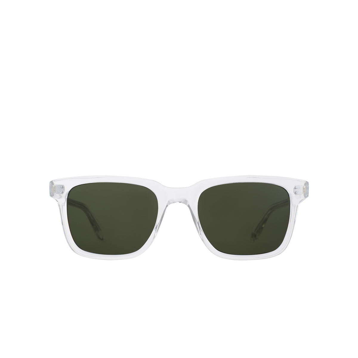 Garrett Leight® Square Sunglasses: Palladium Sun color Crystal CR/PG15.