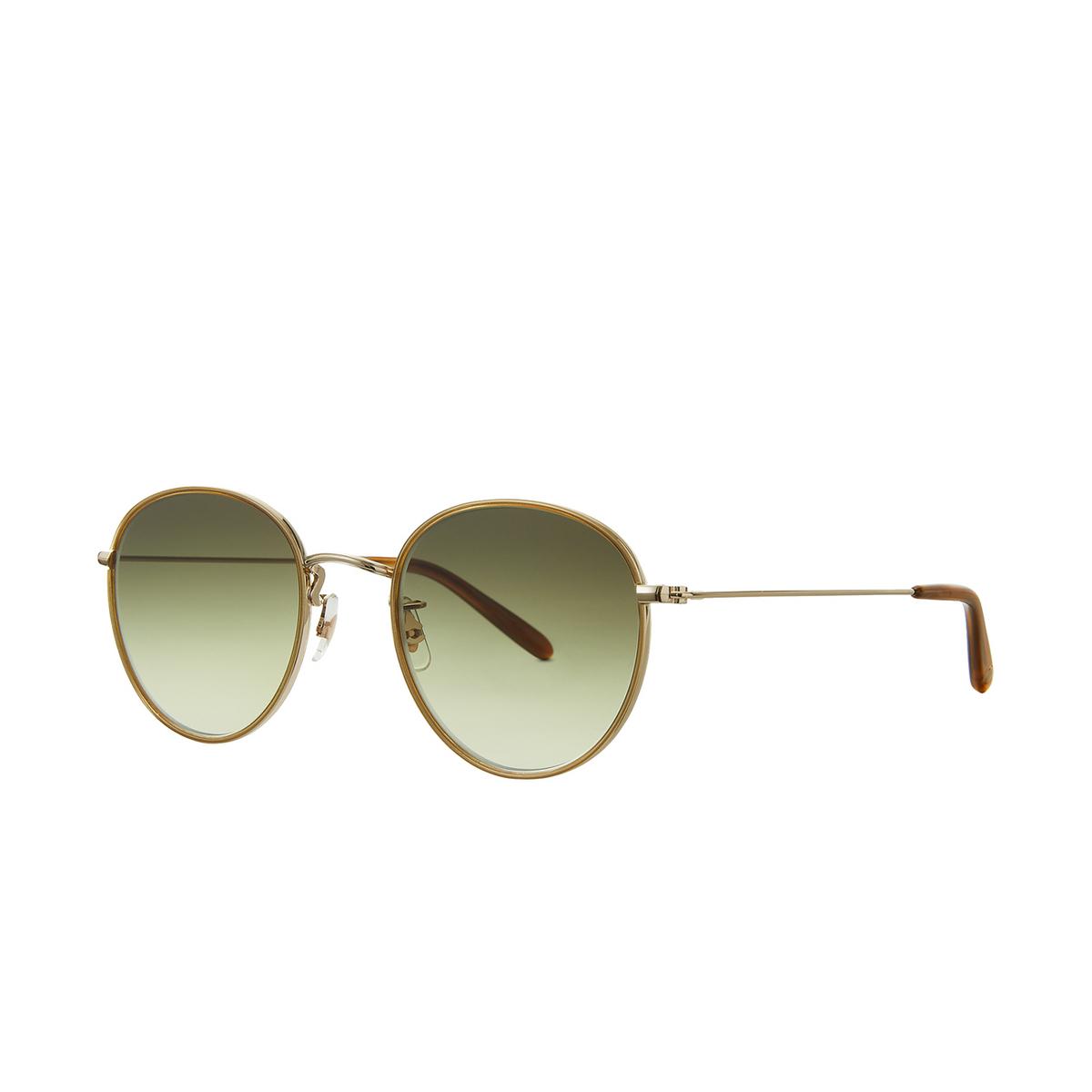Garrett Leight® Round Sunglasses: Paloma Sun color Champagne-gold Ch-g-d/sfog - 2/2.