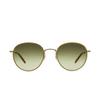 Garrett Leight® Round Sunglasses: Paloma Sun color Champagne-gold Ch-g-d/sfog - product thumbnail 1/2.