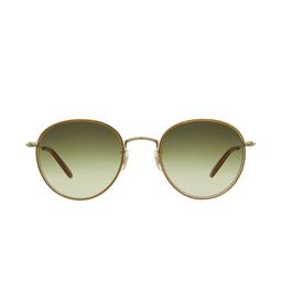 Garrett Leight® Round Sunglasses: Paloma Sun color Champagne-gold Ch-g-d/sfog.
