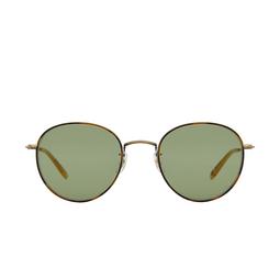 Garrett Leight® Round Sunglasses: Paloma Sun color Jaguar Tort-gold Jt-atg-tof/sfgr.