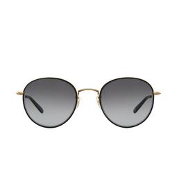 Garrett Leight® Round Sunglasses: Paloma Sun color Matte Black-gold Mbk-mg-mbk/sfch.