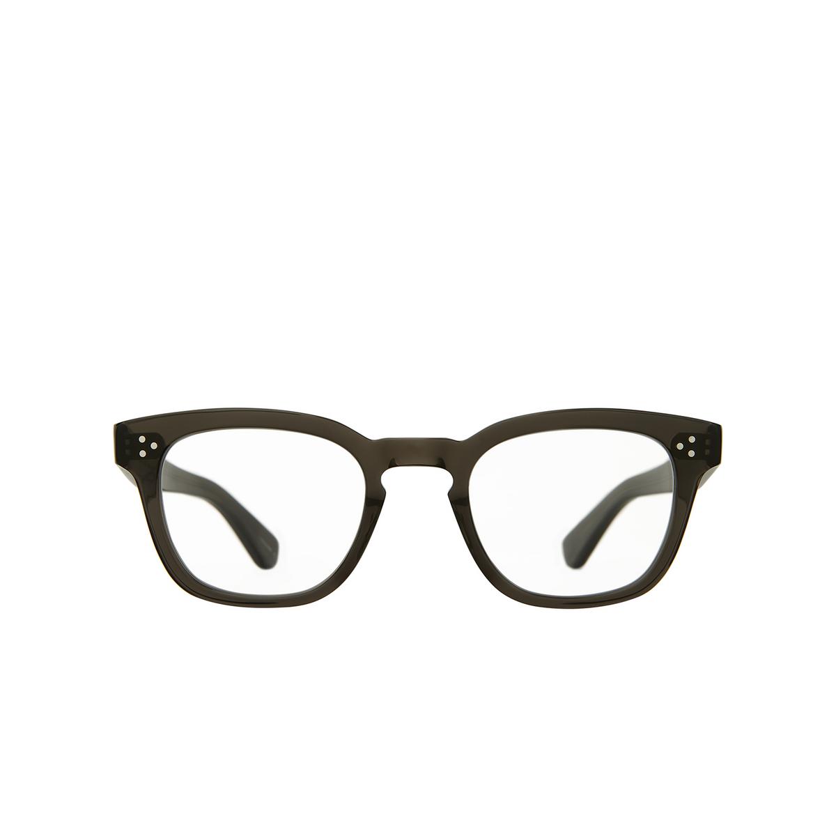 Garrett Leight® Square Eyeglasses: Regent color Black Glass Blgl.