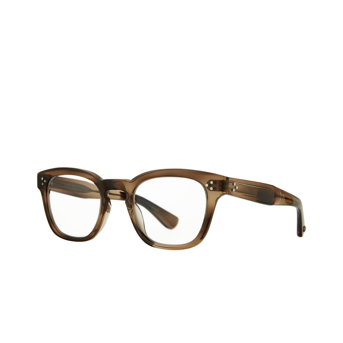 Garrett Leight® Square Eyeglasses: Regent color Khaki Tortoise Kht - three-quarters view.