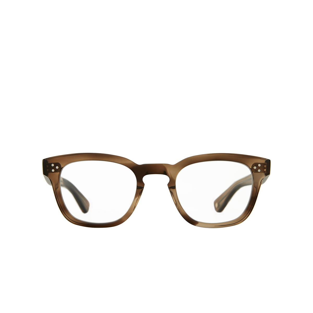Garrett Leight® Square Eyeglasses: Regent color Khaki Tortoise Kht - front view.