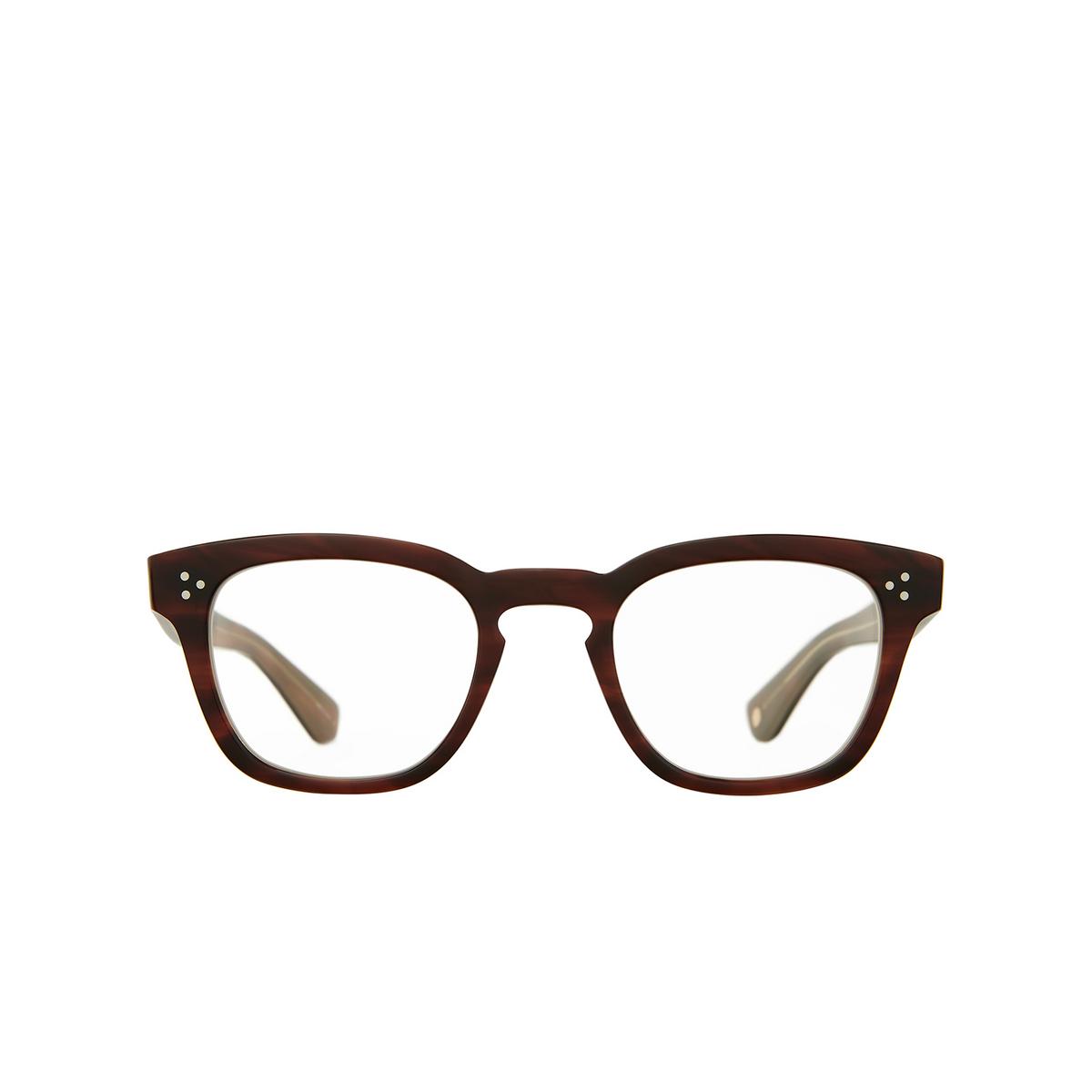 Garrett Leight® Square Eyeglasses: Regent color Whiskey Tortoise Wht - front view.