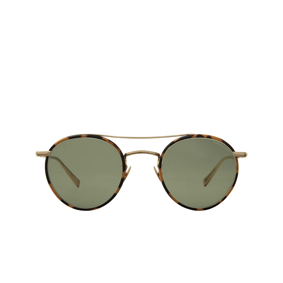 Garrett Leight® Round Sunglasses: Rimowa X Glco Sun color Tokyo Tort-matte Gold Tt-mg/sfgrn.