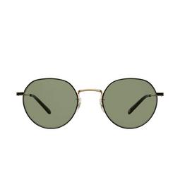 Garrett Leight® Sunglasses: Robson Sun color Gold-black G-bk/sfgrn.