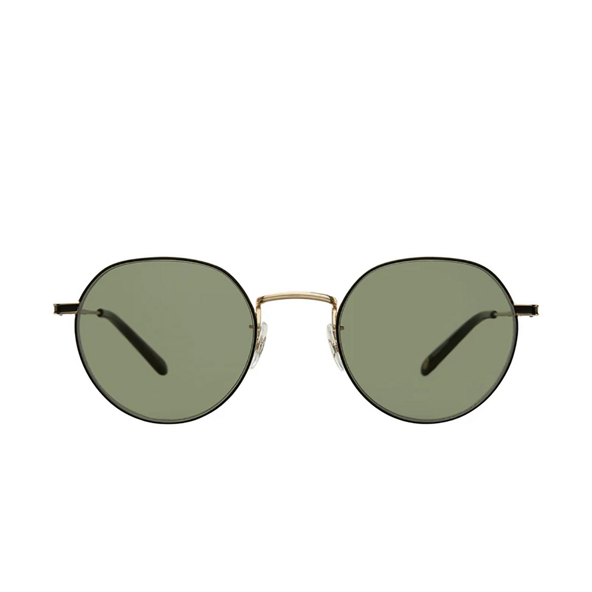 Garrett Leight® Irregular Sunglasses: Robson Sun color Gold-black G-bk/sfgrn.