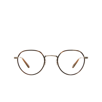 Garrett Leight® Round Eyeglasses: Robson W color Dark Wave Rock-silver Dkwr-bs-hzl.