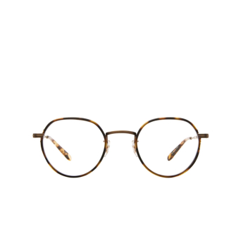 Garrett Leight® Round Eyeglasses: Robson W color Tortoise-antique Gold To-atgii-yt.