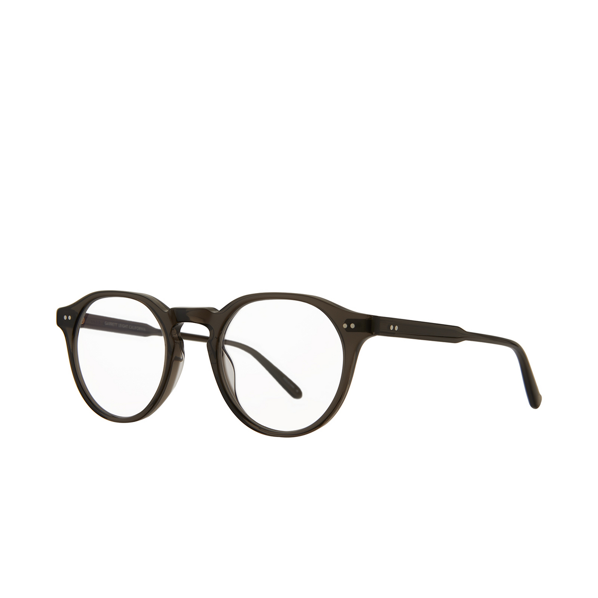 Garrett Leight® Round Eyeglasses: Royce color Black Glass Blgl.
