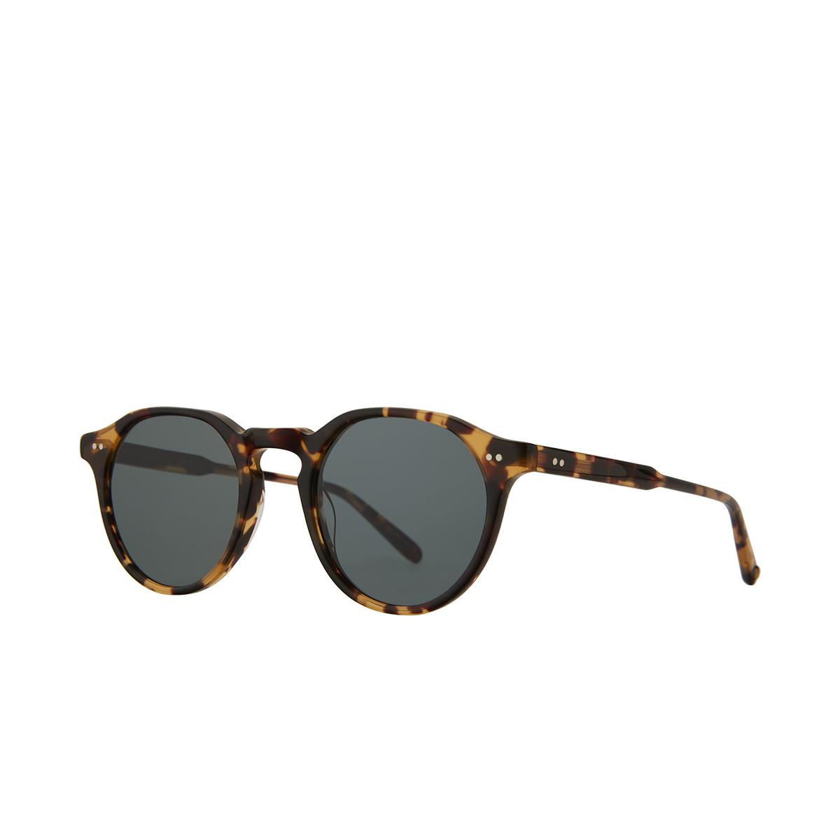 Garrett Leight® Round Sunglasses: Royce Sun color Dark Tortoise Dkt/sfbs.