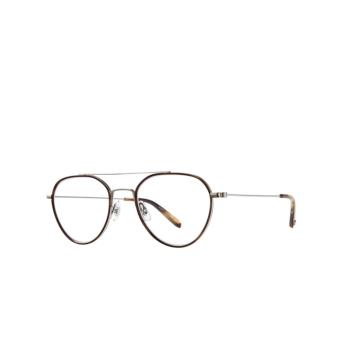 Garrett Leight® Aviator Eyeglasses: San Miguel color Hopps Tortoise-silver Hpto-bs-kot.