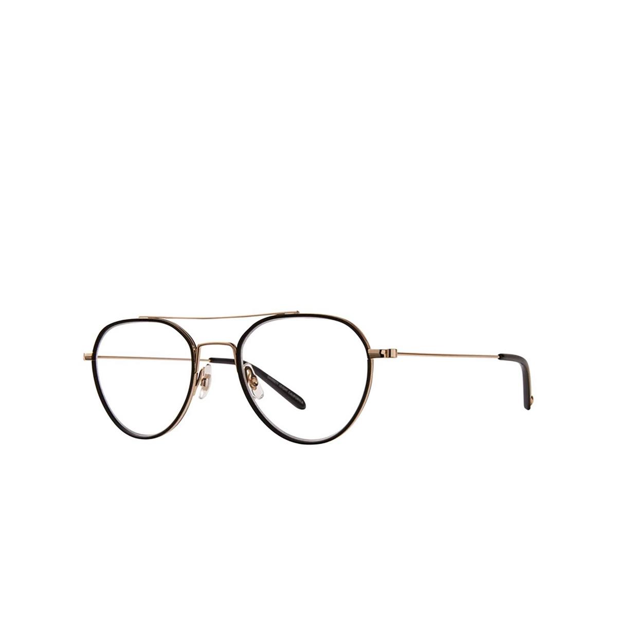 Garrett Leight® Aviator Eyeglasses: San Miguel color Matte Black-gold Mbk-g-bk.