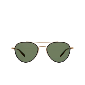 Garrett Leight® Aviator Sunglasses: San Miguel Sun color Matte Black-matte Gold Mbk-mg-mbk-vvg.