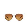 Garrett Leight® Aviator Sunglasses: San Miguel Sun color Marigold-antique Gold Mgt-atgii-cn-hwdg - product thumbnail 1/2.