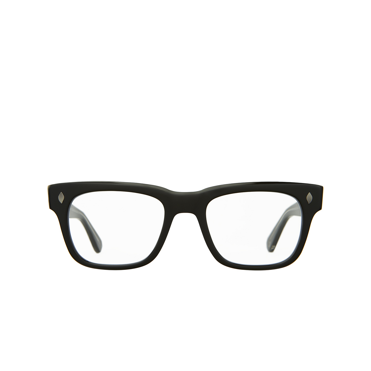 Garrett Leight® Square Eyeglasses: Troubadour color Black Bk.