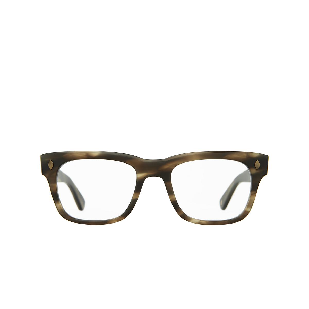 Garrett Leight® Square Eyeglasses: Troubadour color Kodiak Tortoise Kot.