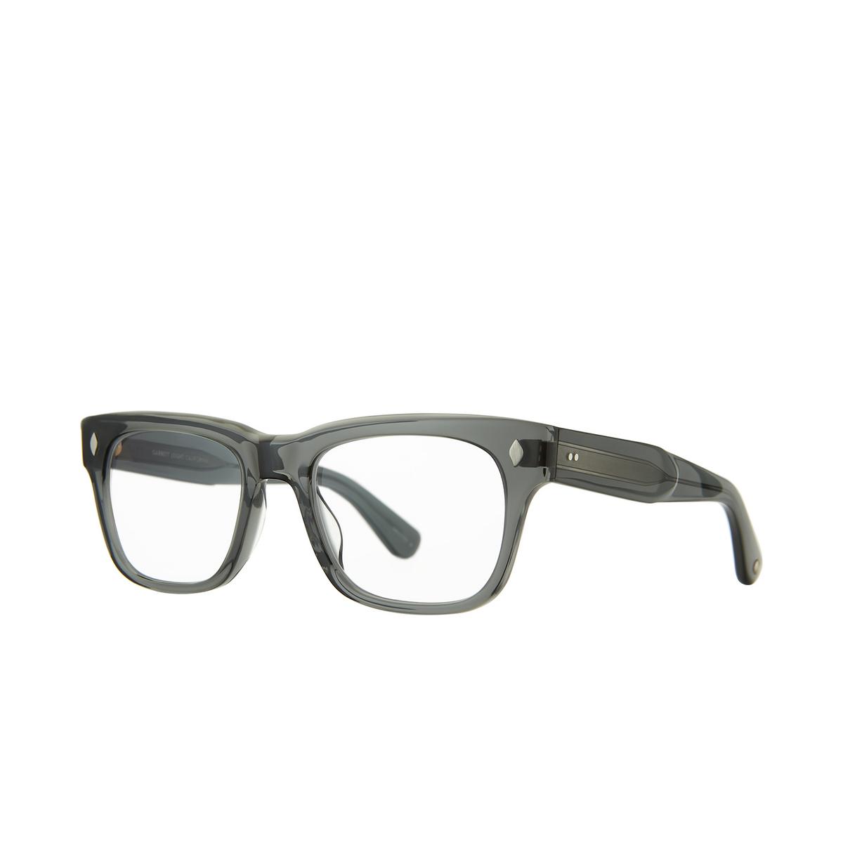 Garrett Leight® Square Eyeglasses: Troubadour color Sea Grey Sgy - three-quarters view.