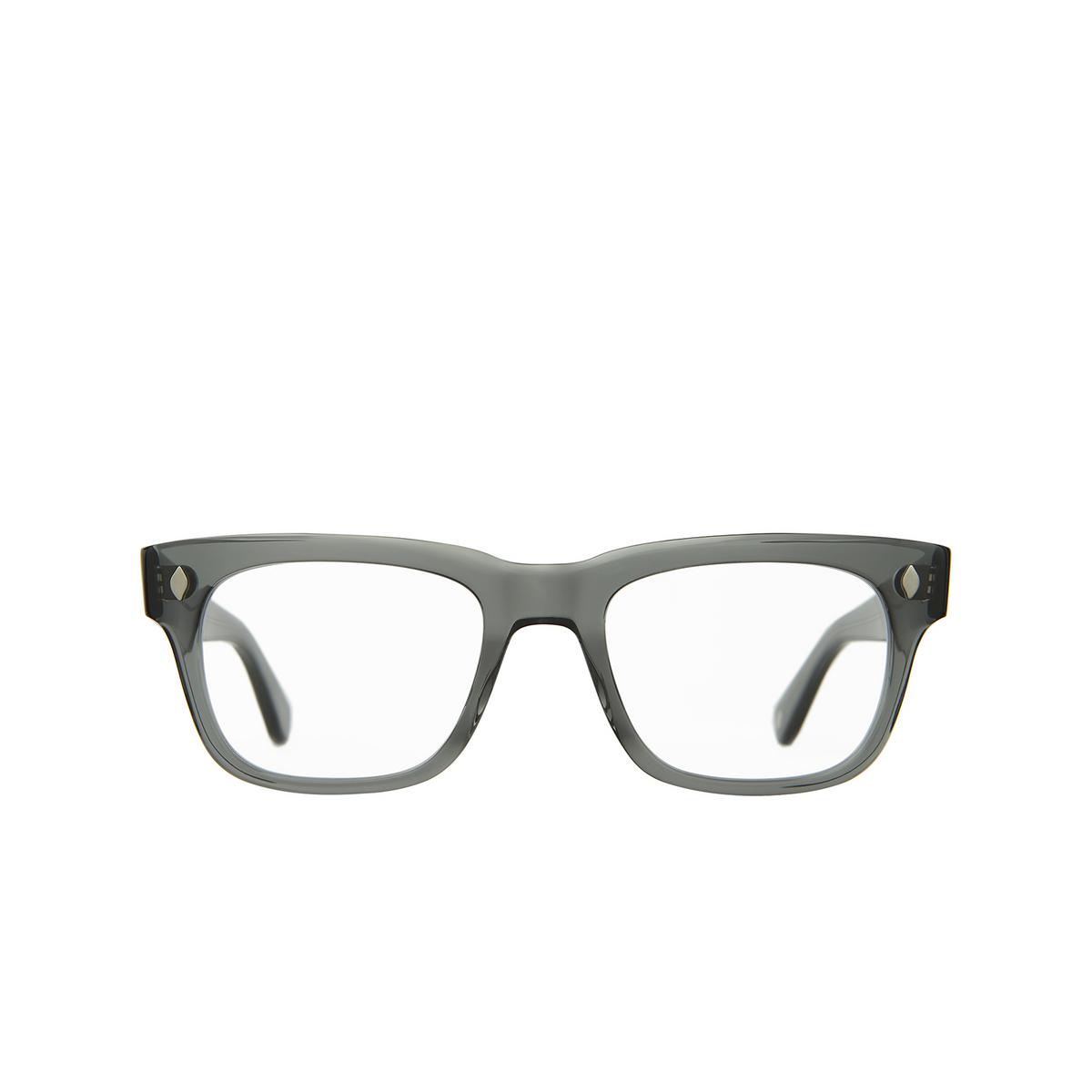 Garrett Leight® Square Eyeglasses: Troubadour color Sea Grey Sgy - front view.