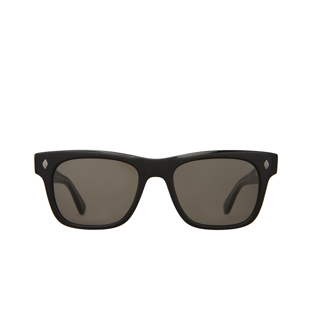 Garrett Leight® Square Sunglasses: Troubadour Sun color Black Bk/gry.