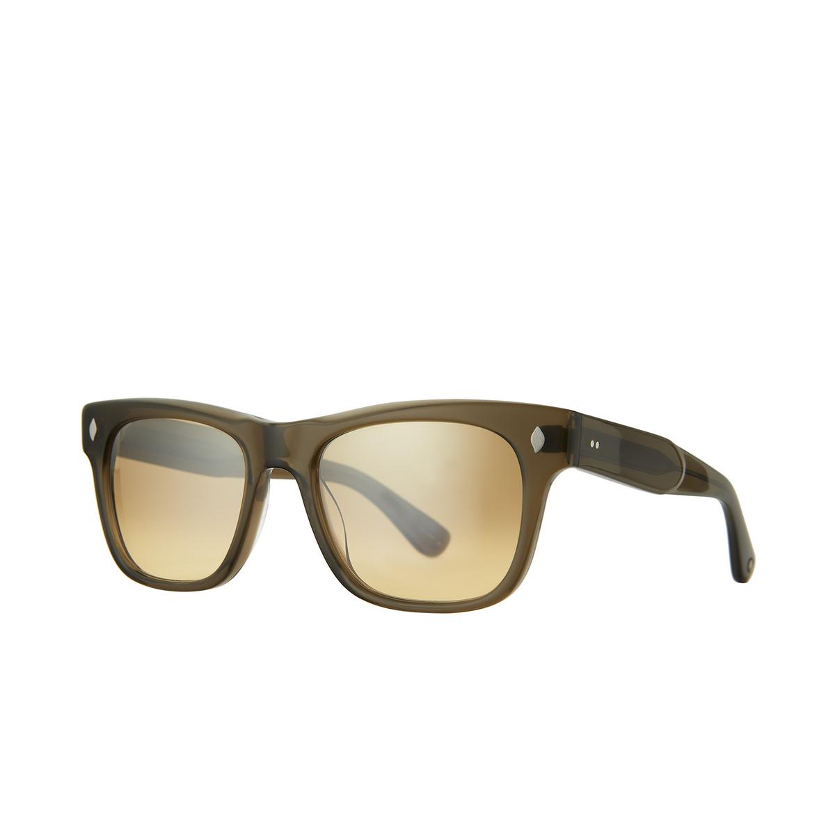 Garrett Leight® Square Sunglasses: Troubadour Sun color Olio Olio/hm.