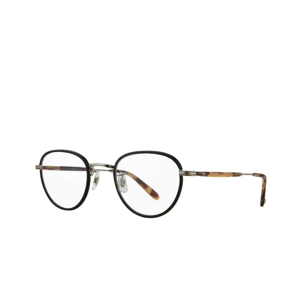Garrett Leight® Square Eyeglasses: Wiltern color Matt Black - Silver Mbk-bs-mdkt.
